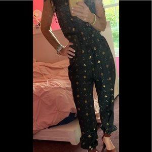 Joie jumpsuit gold & black
